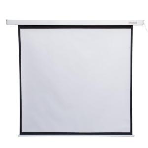 4world Elektromos vetítővászon távirányító 152x152 (1:1) fehér matt