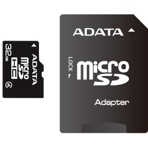 ADATA Micro SDHC 32GB CLASS 4 memóriakártya + SDHC Adapter