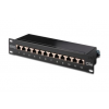 Digitus 10\'\' CAT5e 12-portos S/FTP patch panel