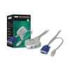 Digitus mini KVM switch  PS/2  2-portos  USB