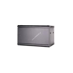 Linkbasic rack wall-mounting cabinet 19\'\' 6U 600x450mm black (steel front door)