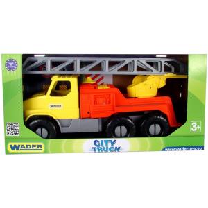 Wader: Nagy sárga létrás tűzoltóautó