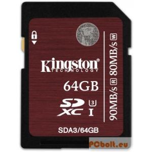 Kingston 64GB SDXC Class 3 UHS-I SC3