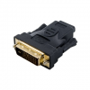 4world Adapter DVI-D [M] (24+1) > HDMI [F]  fekete