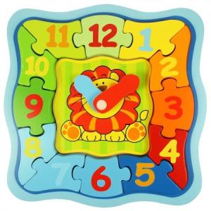 Bigjigs Oroszlános, órás puzzle