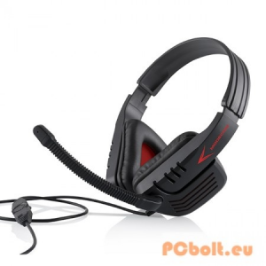 Modecom MC-823 Ranger Gamer Headset Black/Red Headset,2.0,3.5mm,Kábel:2,2m,32Ohm,20Hz-20kHz,Mikrofon,Black/Red