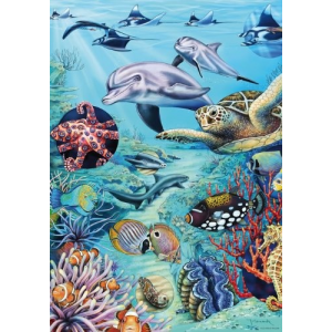 Heye puzzle 500 db - Tropical Waters Flora & Fauna