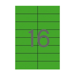 APLI Etikett, 105x37 mm, színes, APLI, zöld 1600 etike