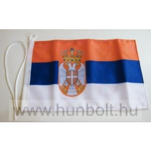 Szerb címeres 2 oldalas hajós zászló (20X30 cm)