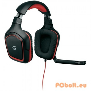Logitech G230 Gaming Headset Black/Red Headset,2.0,3.5mm,Kábel:2,3m,32Ohm,20Hz-20kHz,Mikrofon,Black/Red