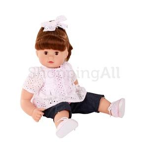 Götz Maxy Muffin GÖTZ baba, barna szemű, barna hajú, 42 cm magas, hajkefével
