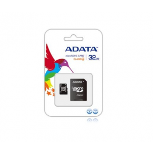 ADATA Micro SD 32GB+Adapter CL4 (AUSDH32GCL4-RA1)