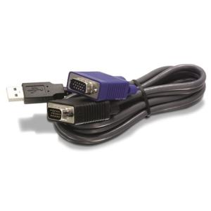 Trendnet TK-CU06 D-SUB 15pin USB M/M KVM switch adatkábel 3m fekete TK-CU10