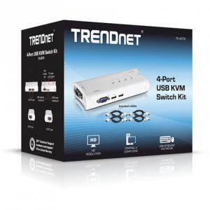 Trendnet TK-407K 4 portos USB2.0 KVM switch TK-407K
