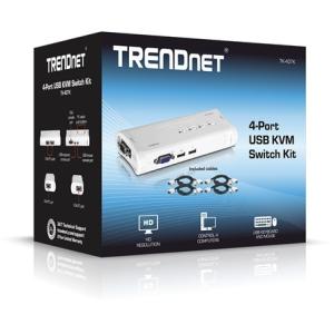 Trendnet TK-407K 4 portos USB2.0 KVM switch TK-407K