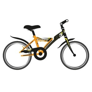 Stucchi Mountain bike fiúknak 20″-as narancs/fekete (Young Warrior S630)