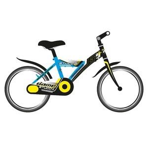 Stucchi Mountain bike 16″-os, acélvázas, kék (Brave S670)