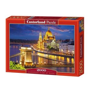 Castorland 2000 darabos puzzle - Budapesti látkép alkonyatkor, (200405)
