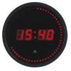 ALBA Falióra, LED kijelzős, 30 cm, ALBA Horled, fekete (BAOLEDF)