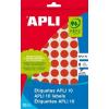 APLI Etikett, 10 mm kör, kézzel írható, színes, APLI, piros, 1008 etikett/csomag (LCA2732)