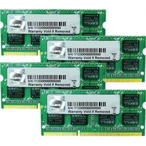 G.Skill FA-1333C9Q-32GSQ For Apple Series SO-DIMM DDR3 RAM G.Skill 32GB (4x8GB) Quad 1333Mhz CL9 1.5V