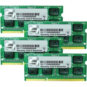 G.Skill FA-1333C9Q-16GSQ For Apple Series SO-DIMM DDR3 RAM G.Skill 16GB (4x4GB) Quad 1333Mhz CL9 1.5V