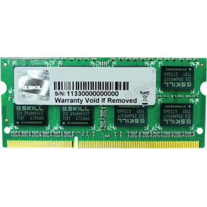 G.Skill FA-10666CL9S-4GBSQ For Apple Series SO-DIMM DDR3 RAM G.Skill 4GB (1x4GB) Single 1333Mhz CL9 1.5V