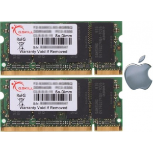 G.Skill FA-6400CL5D-2GBSQ For Apple Series SO-DIMM DDR2 RAM G.Skill 2GB (2x1GB) Dual 800Mhz CL5 1.8V