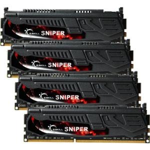 G.Skill F3-2133C10Q-32GSR Sniper SR DDR3 RAM 32GB (4x8GB) Quad 2133Mhz CL10