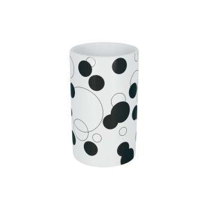 Spirella 10.17300 Tube-Bubbles pohár, black