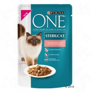 Purina One Sterilised 6 x 85 g - Lazac & sárgarépa