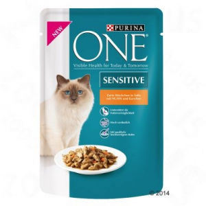 Purina One Sensitive 6 x 85 g - Csirke & sárgarépa