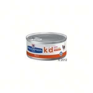 Hill's Prescription Diet Feline K/D csirke - 12 x 156 g