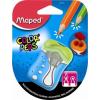 MAPED Hegyező, kétlyukú, tartályos, tompára hegyező, MAPED Color`Peps, vegyes színekben (IMA043110)