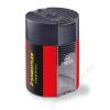 STAEDTLER Hegyező, egylyukú, tartályos, STAEDTLER, fekete-piros (TS511005)