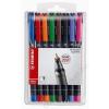 STABILO Alkoholos marker készlet, 0, 4 mm, STABILO OHPen S, 8 különböző szín (TST8418)