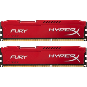 Kingston 8GB 1600MHz DDR3 CL10 DIMM (Kit of 2) HyperX Fury Red Series