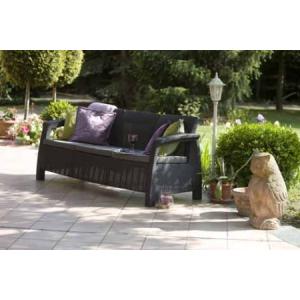 Corfu kanapé 3 személyes szürke
