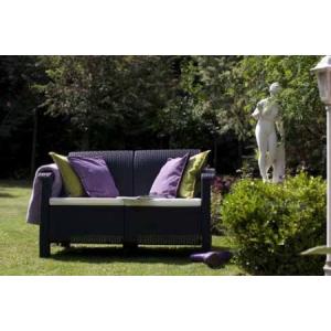 Corfu kanapé 2 személyes szürke