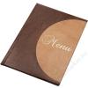 PANTA PLAST Étlaptartó, A4, bőr hatású, PANTA PLAST Félkör , barna-bordó (INP3175020)