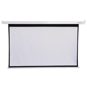 4world Elektromos vetítővászon távirányító 221x124 (16:9) fehér matt