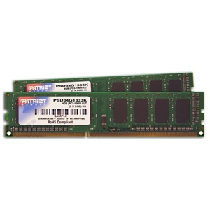 Patriot 2X2GB 1333MHz DDR3 Non-ECC CL9 DIMM kit