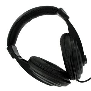 4world Stereo fejhallgató kényelmes fülpárnákkal  fekete  6m