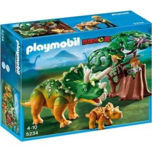 Playmobil Triceratopsz a kicsinyével - 5234