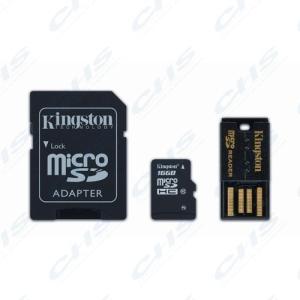 Kingston Memóriakártya MicroSDHC 8GB CLASS 10 + kártyaolvasó
