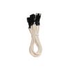 Bitfenix 3-Pin elosztó adapter(3x) 60cm - sleeved fehér/fekete