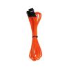 Bitfenix 3-Pin hosszabbító 90cm - sleeved narancs/fekete