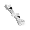 Bitfenix Molex hosszabbító 45cm - sleeved fehér/fehér