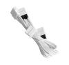 Bitfenix Molex hosszabbító 45cm - sleeved fehér/fehér modding