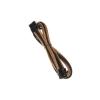 Bitfenix 8-Pin PCIe hosszabbító 45cm - sleeved arany/fekete